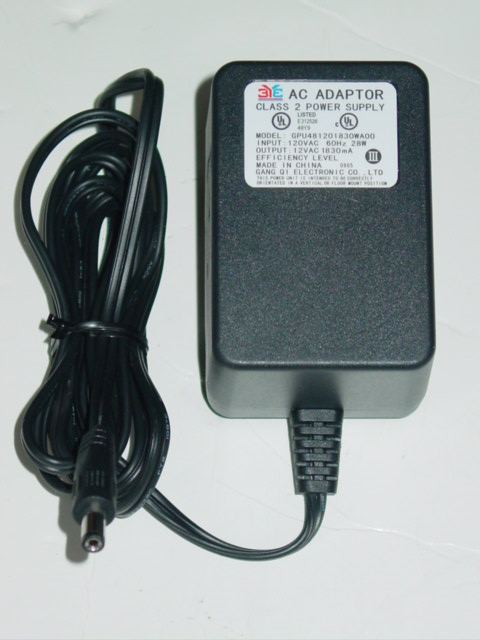 New 3Y3 GPU481201830WA00 AC Adapter 12VAC 1830mA