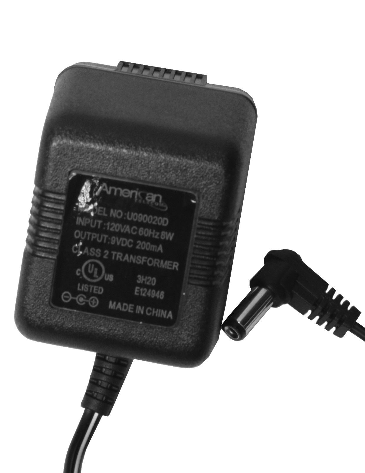 American U0900200 9 Volt Wall DC Power Adapter Charger 9VDC 200mA AC adapter